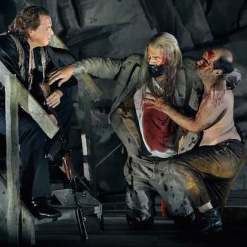 Stefan Vinke, Andreas Hörl und Patric Seibert in Siegfried 2015. © Enrico Nawrath/Bayreuther Festspiele