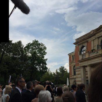 Heute keine Auffahrt der Bayreuther Festspiele. Aber Karten gibt es auch nicht. Die Stadt lässt sie verfallen