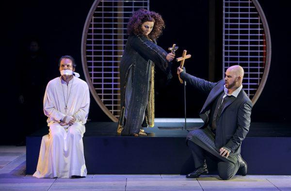 Parsifal, zweiter Akt mit Elena Pankratova als Kundry und Derek Welton als Klingsor.