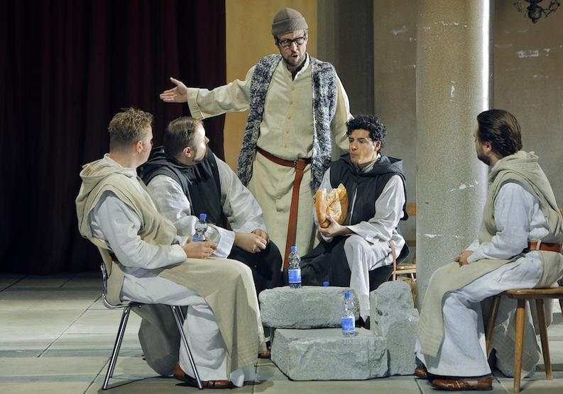 Georg Zeppenfeld als Gurnemanz, Bayreuther Festspiele, Produktion: Parsifal.