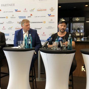Bei der Pressekonferenz 2019 der Bayreuther Festspiele in der Ring-Lounge