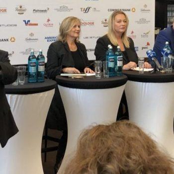 Die Pressekonferenz der Bayreuther Festspiele 2019: Peter Emmerich (links im Bild) stellt die Gesprächsteilnehmer vor