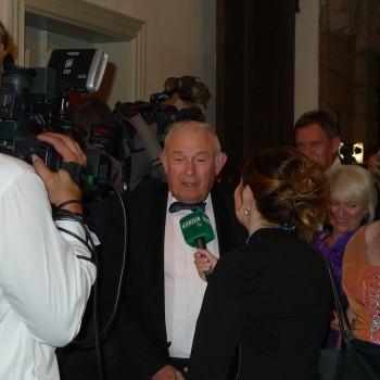 Ex-Ministerpräsident Günther Becksein beim Staatsempfang in Bayreuth.