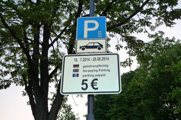 Parkgebühr am Festspielhaus Bayreuth: 5 Euro.