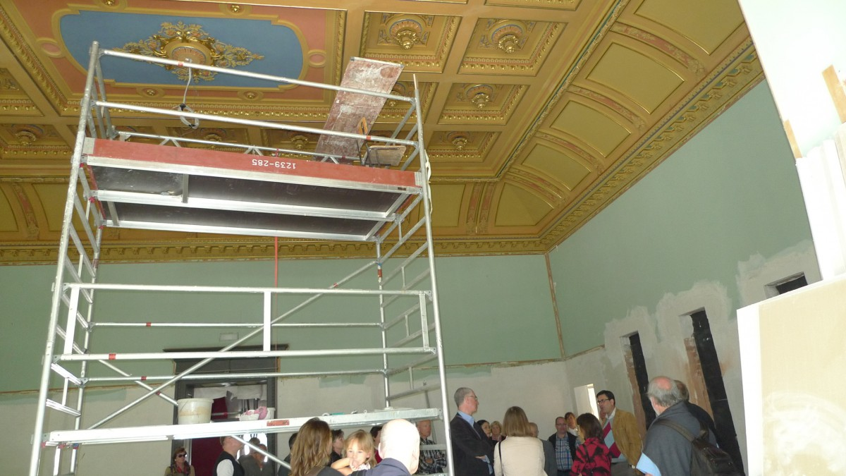 Die Decke des Festsaals ist bereits fertig. (Foto: ek)