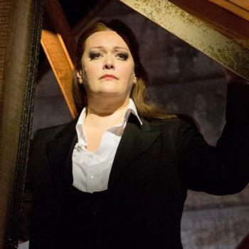 "Starke Frau: Catherine Foster als Brünnhilde in ""Walküre"". Foto: Enrico Nawrath, Bayreuther Festspiele"