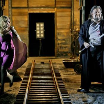 Anja Kampe und Johan Botha in Walküre II. Foto: Enrico Nawrath, Bayreuther Festspiele