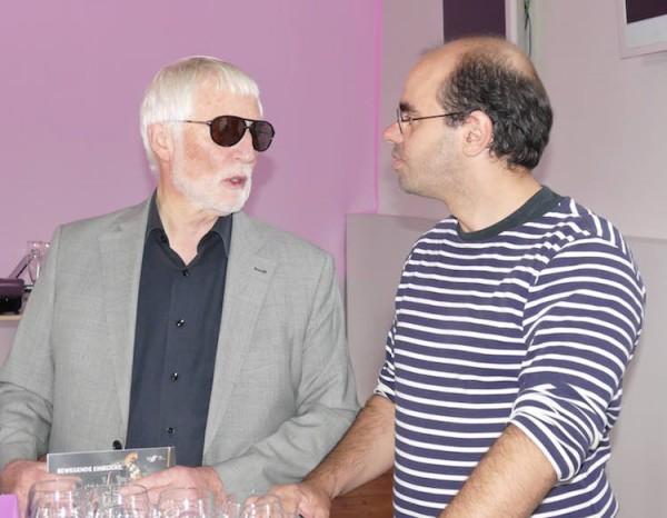 Dr. Herbert Conrad, 2. Vorsitzender von Zäsuren-Sponsor TAFF (Team aktiver Festspielförderer) und Ring-Regieassistent Patric Seibert. © R. Ehm-Klier/festspieleblog.de
