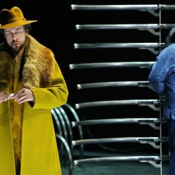 Fieser Staatsmann: Georg Zeppenfeld als Marke in Tristan und Isolde. Foto: Enrico Nawrath, Bayreuther Festspiele.