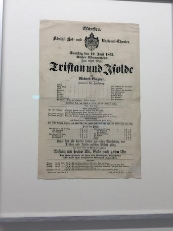 Das Plakat der Uraufführung von Tristan und Isolde in München. © R. Ehm-Klier/festspieleblog.de