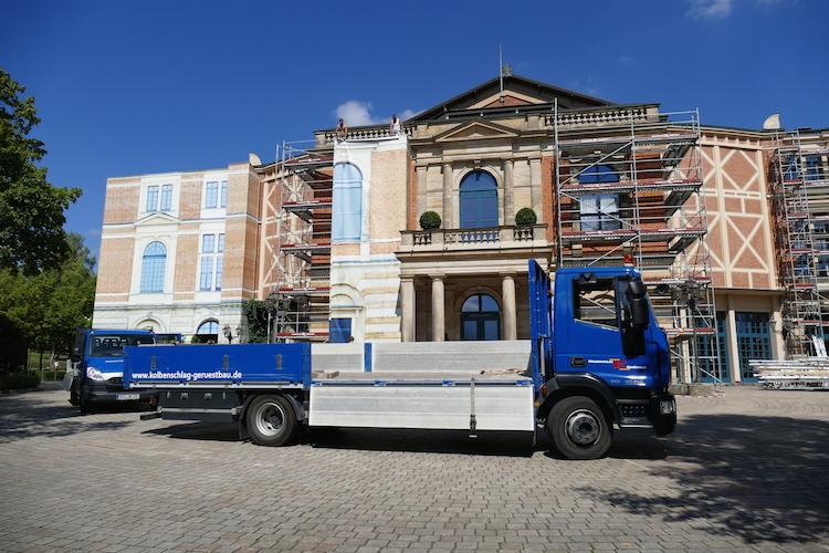 Beginn der Sanierung des Bayreuther Festspielhauses. © R. Ehm-Klier/festspieleblog.de