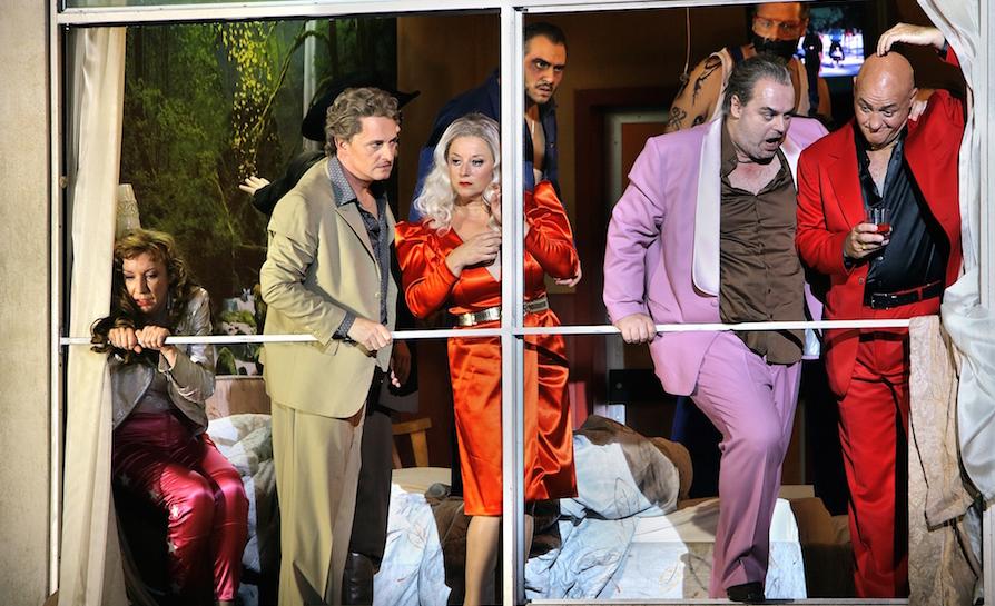 Szene aus Rheingold 2015. © Enrico Nawrath/Bayreuther Festspiele
