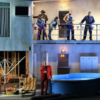Szene aus Rheingold. © Enrico Nawrath/Bayreuther Festspiele
