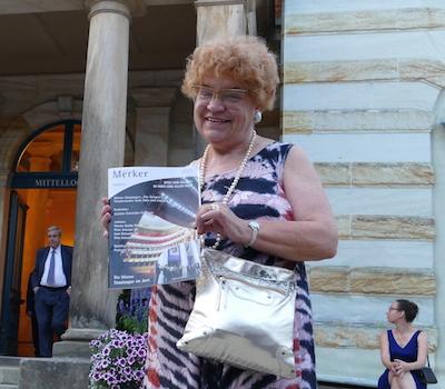 """Dr. Sieglinde Pfabigan, Chefredakteurin """"Der Neue Merker"""". © R. Ehm-Klier/festspieleblog.de"""