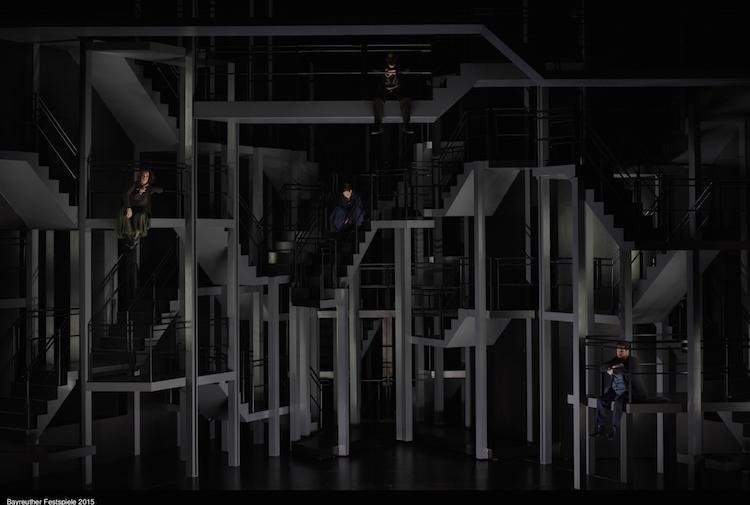 """Szene aus """"Tristan und Isolde"""" bei den Bayreuther Festspielen 2015. © Enrico Nawrath/Bayreuther Festspiele"""