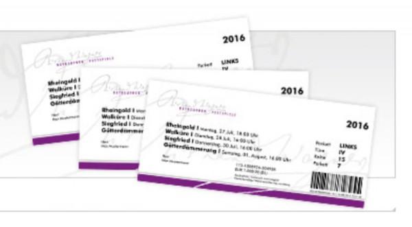 Tickets für die Bayreuther Festspiele.