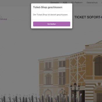Ein Blick in den Onlineshop der Bayreuther Festspiele.