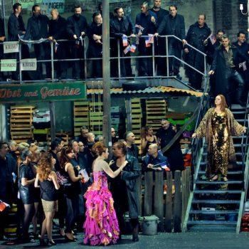 Großer Auftritt von Catherine Foster als Brünnhilde. © Enrico Nawrath/Bayreuther Festspiele