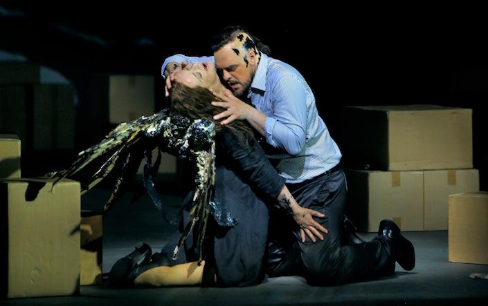 Endlich Emotionen im Holländer: Ricarda Merbeth und Thomas J. Mayer. © Enrico Nawrath/Bayreuther Festspiele