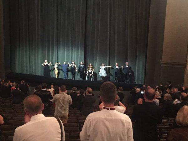 Applaus Götterdämmerung bei den Bayreuther Festspielen.