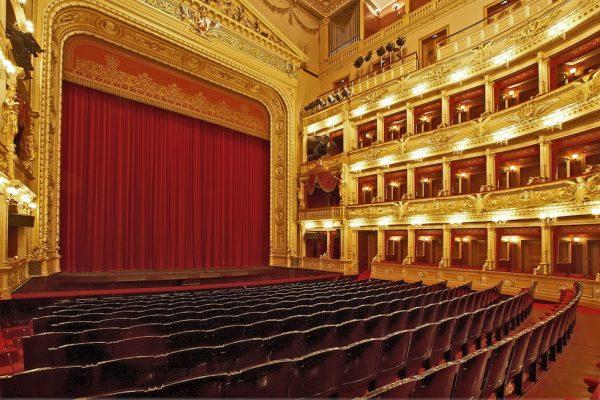 Zuschauerraum, Nationaltheater Prag.