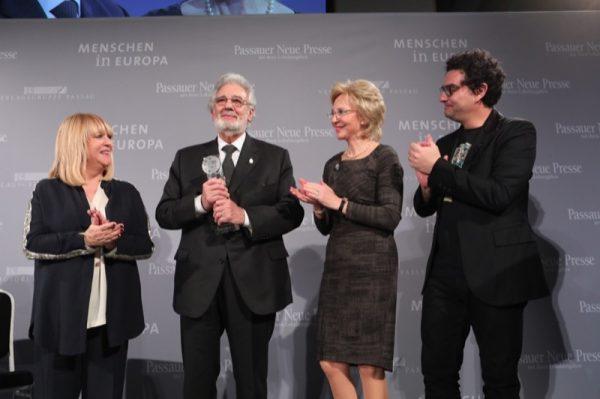 Placido Domingo MiE Award in Passau, wo am 27. November 2017 die Verleihung des MiE-Kunst Awards stattfand.