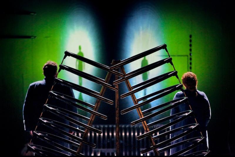 Szene aus dem zweiten Akt Tristan und Isolde bei den Bayreuther Festspielen 2018, O Sink hernieder...