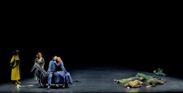 Szene aus Tristan und Isolde bei den Bayreuther Festspielen 2018. Liebestod