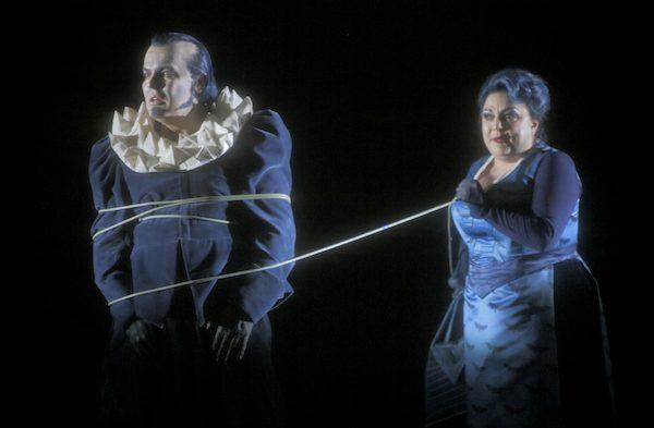 Bayreuther Festspiele, Szene Lohengrin: Tomasz Konieczny und Elena Pankratova