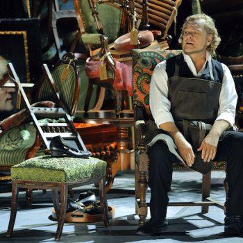 Hans Sachs im Trümmerhaufen, zweiter Akt Meistersinger von Nürnberg