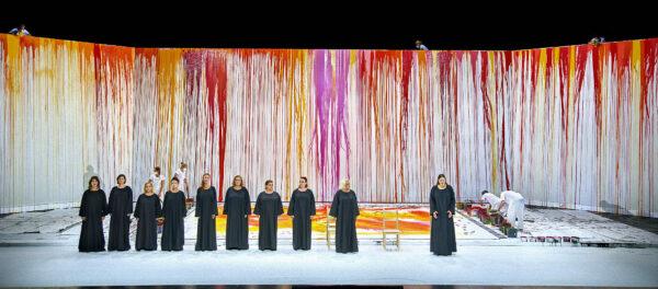 Die Walküre; Gestaltet von Aktionskünstler Hermann Nitsch ; Bayreuther Festspiele 2021; Photo ©Enrico Nawrath